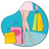 Einkaufenkonzeptvektor Lizenzfreies Stockfoto