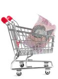Einkaufenlaufkatze Stockfotos