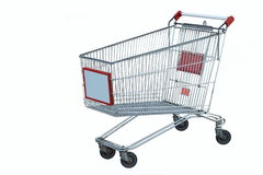 Einkaufenlaufkatze Lizenzfreies Stockfoto