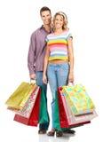 Einkaufenleute Stockfoto