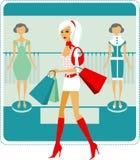 Einkaufenmädchen Stockbilder