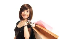 Einkaufenmädchen Lizenzfreie Stockfotos