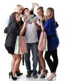 Einkaufenmädchen lizenzfreies stockbild