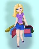 Einkaufenmädchen Stockfotos
