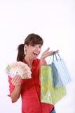 Einkaufenmädchen Stockfotografie