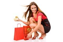 Einkaufenmädchen Lizenzfreie Stockfotografie