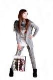 Einkaufenmädchen. Stockfotos