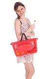 Einkaufenmädchen mit Lutscher Stockfotografie