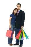Einkaufenpaare stockbild