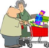 Einkaufenpaare stock abbildung