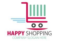 Einkaufenstation Zeichen-Auslegung Stockfotos