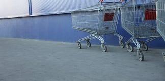 Einkaufenwagen Stockfotos