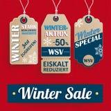 Einkaufs3 Preis-Aufkleber-Fahne WSV Knit Stockfotografie