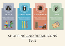 Einkaufs- und Einzelhandelsaufkleber Lizenzfreie Stockbilder