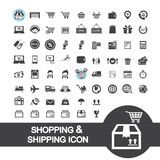 Einkaufs- und Versandikone Lizenzfreies Stockfoto