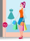 Einkaufsdame Lizenzfreie Stockbilder