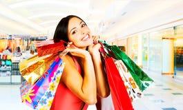 Einkaufsfrau Stockfoto