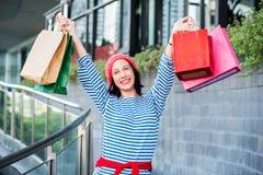 Einkaufsgeschenk und -geschenk am 26. Dezember Lizenzfreie Stockfotos