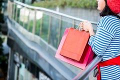 Einkaufsgeschenk und -geschenk am 26. Dezember Stockbilder