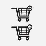 Einkaufshandwarenkorb-Ikonen Lizenzfreies Stockbild