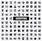 Einkaufsikonen lizenzfreie abbildung