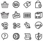 Einkaufsikonen Lizenzfreies Stockbild