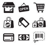 Einkaufsikonen Lizenzfreie Stockfotografie