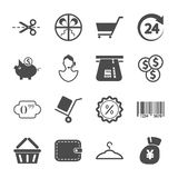 Einkaufsikonen Lizenzfreie Stockbilder
