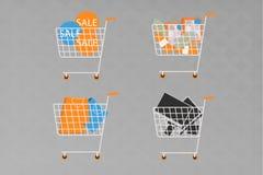 Einkaufsillustration Stockfoto