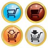Einkaufskauf-Markt-Warenkorb Stockbilder