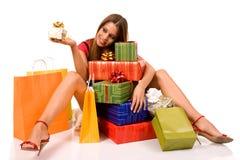 Einkaufsmädchen stockbild