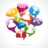 Einkaufssprache-Blasen Stockbild