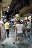 Einkaufsstraße in Athen, Griechenland Stockbild