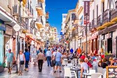 Einkaufsstraße Rondas, Spanien lizenzfreie stockbilder