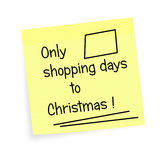 Einkaufstage zum Weihnachten - Anzeige Lizenzfreies Stockfoto