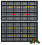 Einkaufstage zum Weihnachten - Anzeige Flughafenschirmart Stockbilder