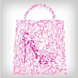 Einkaufstasche, Art und Weise bereift Konzept vektor abbildung