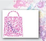Einkaufstasche, Art und Weise bereift Konzept stock abbildung