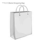 Einkaufstasche des Weißbuches 3D Lizenzfreie Stockfotografie