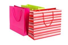 Einkaufstasche drei Stockfoto