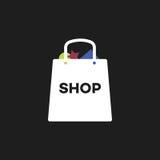 Einkaufstasche im Vektor Lizenzfreie Stockfotos