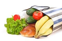 Einkaufstasche mit Nahrung Lizenzfreie Stockfotos