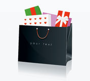 Einkaufstasche-Schwarzes 3 Stockfoto