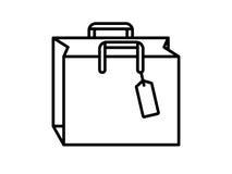 Einkaufstasche Schwarzweiss Lizenzfreie Stockfotos