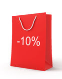 Einkaufstasche (Verkauf -10) Lizenzfreies Stockfoto