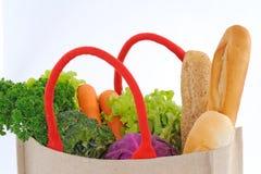 Einkaufstasche voll der Lebensmittelgeschäfte Stockfotografie