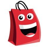 Einkaufstasche-Zeichentrickfilm-Figur-Design stock abbildung