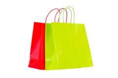 Einkaufstaschen erhellt stockfotos