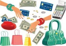 Einkaufstoureinzelteile Lizenzfreie Stockbilder