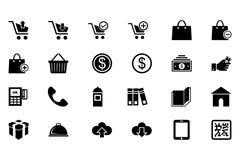 Einkaufsvektor-Ikonen 1 Lizenzfreies Stockfoto